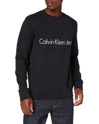 Calvin Klein Harvel Cn Hknit L/s - Nero