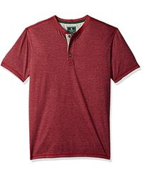G.H.BASS - Short Sleeve Carbonized Jersey Henley - Lyst