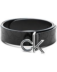 Calvin Klein CK Low EM Fix Belt 3 W75 Black - Nero