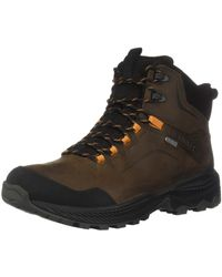 Merrell Forestbound Mid Waterproof High Rise Hiking Boots - Brown