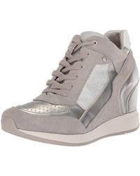Geox D Nydame A Hi top Trainers in Brown Lyst