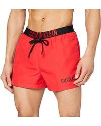 Calvin Klein Short Drawstring Wb Badehose - Rot