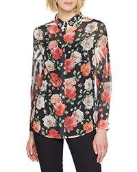 Guess Ls Clouis Shirt Chemise Casual - Multicolore