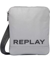Replay Fm3488 Satchel Bag - Grey