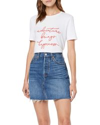 Levi's HR Decon Iconic BF Skirt Falda - Azul