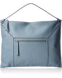 Ecco Sculptured Shoulder Bag 2 - Blue