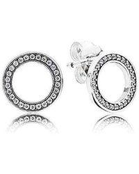 796e9778cad1 Pendientes de botón Mujer plata - Metálico