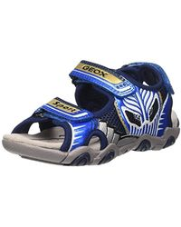 Geox Jr Sandal Strike B, Sandalias para Niños - Azul