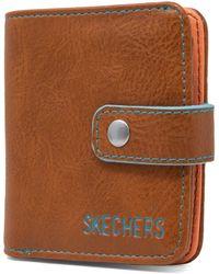 Skechers Rfid Blocking Mini Bifold Travel Accessory-bi-fold Wallet - Brown