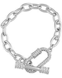 Guess Bracelet à maillons pavés - Métallisé