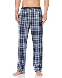 GANT Pajama Pants Blue Check Pantaloni Pigiama
