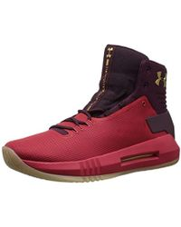 Under Armour UA Drive 4, Chaussures de Basketball Homme - Rouge