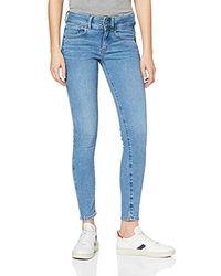 G-Star RAW Damen Lynn Mid Skinny Jeans, Blau (Sun Faded Blue B605-A587), W30/L32 (Herstellergröße:30W / 32L)