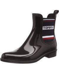 Tommy Hilfiger Tommy Elastic Rain Boot - Negro