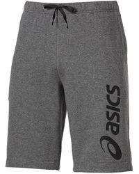 Asics Logo Knit S 11 In Sweat Short Grey Casual Lounge 125097 0773 A19b
