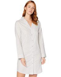 Iris & Lilly Long Sleeve Cotton Nightdress - Grey