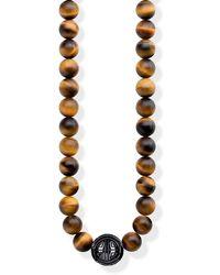 Thomas Sabo S-Chaîne Power Necklace Marron Glam & Soul Argent Sterling 925 KE1673-806-2-L100
