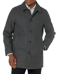 Amazon Essentials Wool Blend Heavyweight Car Coat Outerwear-Coats - Gris