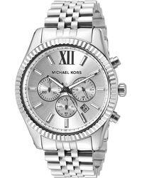 Michael Kors - Orologio cronografo da uomo LEXINGTON con cinturino in acciaio inossidabile argento MK8405 - Lyst