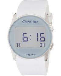 Calvin Klein S Analogique Quartz Montre avec Bracelet en Acier Inoxydable K6K31B46 - Métallisé