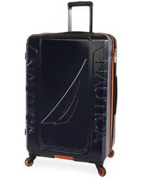 """Nautica Birch Hardside Spinner Check In Luggage 29"""" - Blue"""