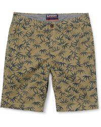 Superdry International Chino Short Pantalones Cortos - Azul