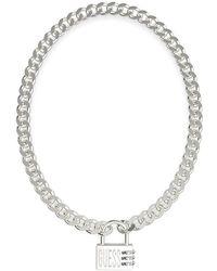 Guess Jewellery Lock ME UBN20053 Collier - Métallisé
