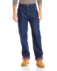 Dickies Relaxed Straight Flannel Lined Carpenter Jean - Blue