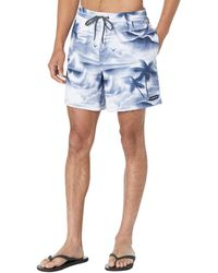 Quiksilver 17 Inch Elastic Waist Swim Trunk Bathing Suit Short Boardshorts - Blau