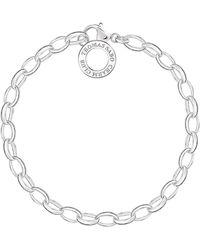 Thomas Sabo Charm Bracelet Charm Club 925 Sterling Silver Length 20.5 Cm X0031-001-12-l - Metallic