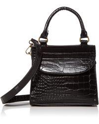 The Drop Diana Top Handle Crossbody Bag - Black