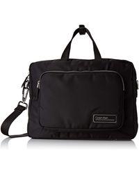 Calvin Klein Primary 1 Gusset Laptop Bag - Negro