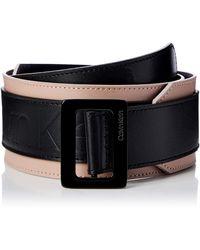 Calvin Klein 6cm Waist Large Buckle Belt Cintura - Nero