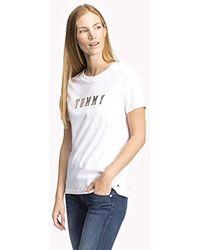 Tommy Hilfiger - Holli C-nk Tee Ss T-shirt - Lyst