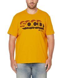 S.oliver Big size T-Shirt - Gelb