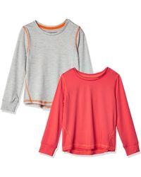 Amazon Essentials – Camiseta deportiva de manga larga para niña - Multicolor