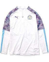 PUMA Chester City MCFC 1/4 Zip Top T-Shirt - Blau