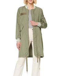 True Religion Long Bomber Coat - Green