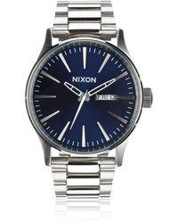 Nixon Armbanduhr Sentry Edelstahl Blue Sunray - Blau