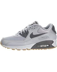 cd5677cb48 Nike Air Max 90 Essential Trainers in Red - Lyst