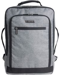 """Kenneth Cole Reaction Dual Compartment Checkpoint Friendly Slim 17"""" Laptop Backpack With Rfid - Gray"""