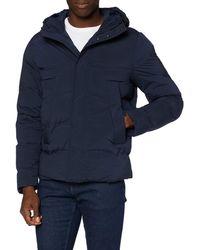 Tommy Hilfiger Hooded Stretch Bomber Jacket - Bleu