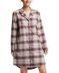 Esprit Juttah Cas Nw Ocs Nightshirt Longsleeve Nightgown - Multicolour