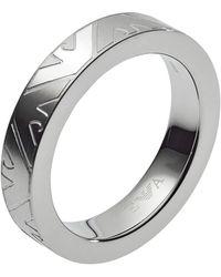 Emporio Armani Ringe Edelstahl mit '- Ringgröße 64 EGS2601040-11 - Mettallic