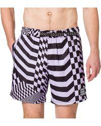 PUMA Swim PsyGeo all-Over-Print Mid Swimming Shorts Trunks - Blu