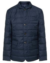 Hackett Lightweight Down Blazer In Navy - Blue