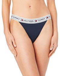 Tommy Hilfiger Bikini Culotte para Mujer - Azul