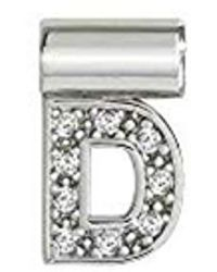 Nomination Letter D Charm In Silver And Cubic Zirconia - Metallic
