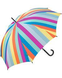 Benetton Benetton Automatic Umbrella Multi Stripes - Multicolour