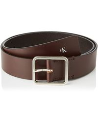 Calvin Klein Ckj Uniform Workman Belt 35mm - Brown